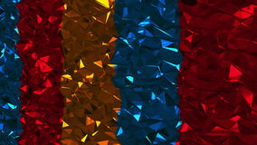 Abstract background with colorful lowpoly triangles. 3d rendering Stock Illustration