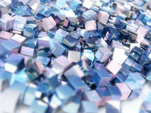 Abstract background colorful metallic cubes Stock Image