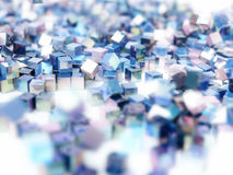 Abstract background colorful metallic cubes Royalty Free Stock Photos