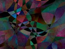 Abstract background. Colorful mix polygon abstract background royalty free illustration