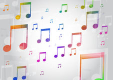 Abstract Background with Colorful. Music notes Royalty Free Stock Photo