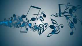 Abstract Background with Colorful Music notes. Royalty Free Stock Photos