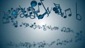 Abstract Background with Colorful Music notes. An Abstract Background with Colorful Music notes Stock Photography