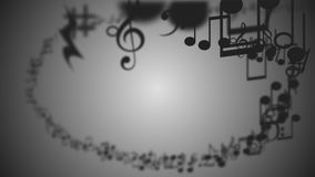 Abstract Background with Colorful Music notes. An Abstract Background with Colorful Music notes Stock Photo