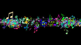 Abstract Background with Colorful Music notes. An Abstract Background with Colorful Music notes Royalty Free Stock Photos