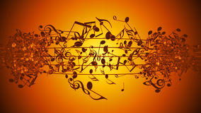 Abstract Background with Colorful Music notes. An Abstract Background with Colorful Music notes stock illustration