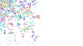 Abstract Background with Colorful Music notes. An Abstract Background with Colorful Music notes Royalty Free Stock Photography