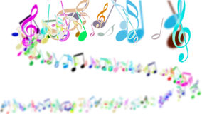 Abstract Background with Colorful Music notes. An Abstract Background with Colorful Music notes Stock Photos