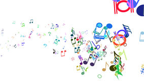 Abstract Background with Colorful Music notes. An Abstract Background with Colorful Music notes vector illustration