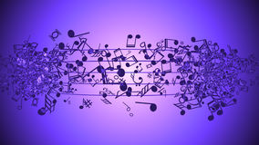 Abstract Background with Colorful Music notes. An Abstract Background with Colorful Music notes Royalty Free Stock Image