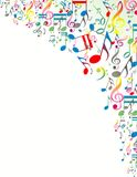 Abstract Background with Colorful Music notes Stock Photo