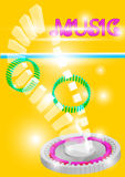 Abstract background colorful music vector Royalty Free Stock Photos