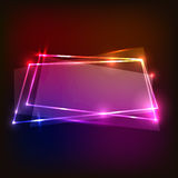 Abstract background with colorful neon banners. Stock vector Royalty Free Stock Photos