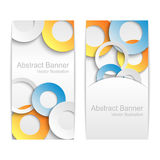 Abstract background with colorful paper circles. Stock Photos