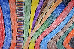Abstract background. colorful pencil strips. children`s style stock image