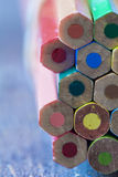 Abstract background of colorful pencils Stock Photos