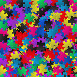 Abstract background with colorful puzzles Royalty Free Stock Images