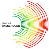 Abstract background with colorful rainbow lines. Colored circles with place for your text  on a white background Royalty Free Stock Photos