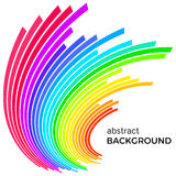 Abstract background with colorful rainbow lines. Colored circles with place for your text. On a white background Royalty Free Stock Photo