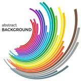 Abstract background with colorful rainbow lines. Colored circles with place for your text  on a white background Stock Photos