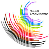 Abstract background with colorful rainbow lines. Colored circles with place for your text  on a white background Royalty Free Stock Images