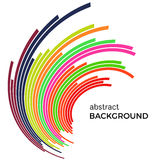 Abstract background with colorful rainbow lines. Colored lines with place for your text Royalty Free Stock Image