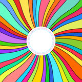 Abstract Background, Colorful Rays. Abstract Background, Sun of Colored Ribbons, Colorful Rays, Star Burst, Vector Illustration Royalty Free Stock Image