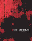 Abstract background with colorful red ink splashes. Abstract vector background with colorful red ink splashes on black background in grunge style with place for royalty free illustration