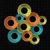 Abstract background with colorful rings. Vector illustration royalty free illustration