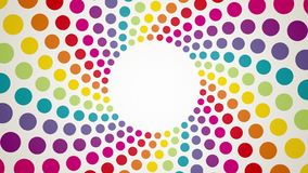 Abstract background with colorful rotating polka dots