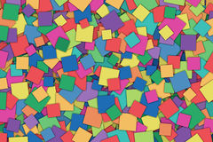 Abstract Background. A Colorful Abstract Background with Scattered Squares Stock Images