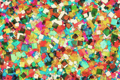 Abstract Background. A Colorful Abstract Background with Scattered Squares royalty free illustration
