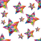 Abstract background. Colorful seamless background with polygonal stars Royalty Free Stock Photos