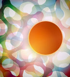 Abstract background with colorful shapes. Vector Abstract background with colorful futuristic shapes Royalty Free Stock Photos