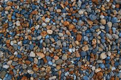 Abstract background of colorful small stones Stock Photo