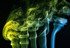 Abstract background, colorful smoke Royalty Free Stock Photos