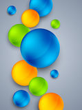 Abstract background with  colorful spheres. Bright illustration Royalty Free Stock Photography