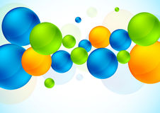 Abstract background with colorful spheres. Bright illustration Stock Photography