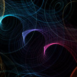 Abstract background with colorful spirals Royalty Free Stock Images