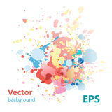 Abstract background with colorful splashes. Bright colorful abstract background with colorful splashes stock illustration