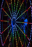 Abstract Background: Colorful Spokes of a Ferris Wheel Royalty Free Stock Photos