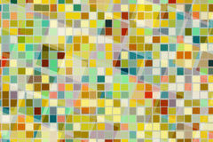 Abstract background of colorful square shape in different size cross and blend together. Stock Photos