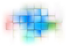 Abstract background with colorful squares. And light Stock Images