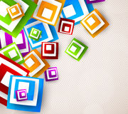 Abstract background with colorful squares. Bright illustration Royalty Free Stock Images