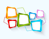 Abstract background with colorful squares. This is file of EPS10 format Royalty Free Stock Images
