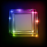Abstract background with colorful squares banner Stock Images