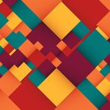 Abstract background with colorful squares. Business design template. Vector. Illustration Royalty Free Stock Photo