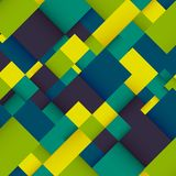 Abstract background with colorful squares. Business design template. Vector. Illustration Stock Photography
