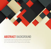 Abstract background with colorful squares. Business design template. Vector. Illustration Stock Photos
