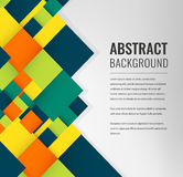 Abstract background with colorful squares. Business design template. Vector Stock Photography